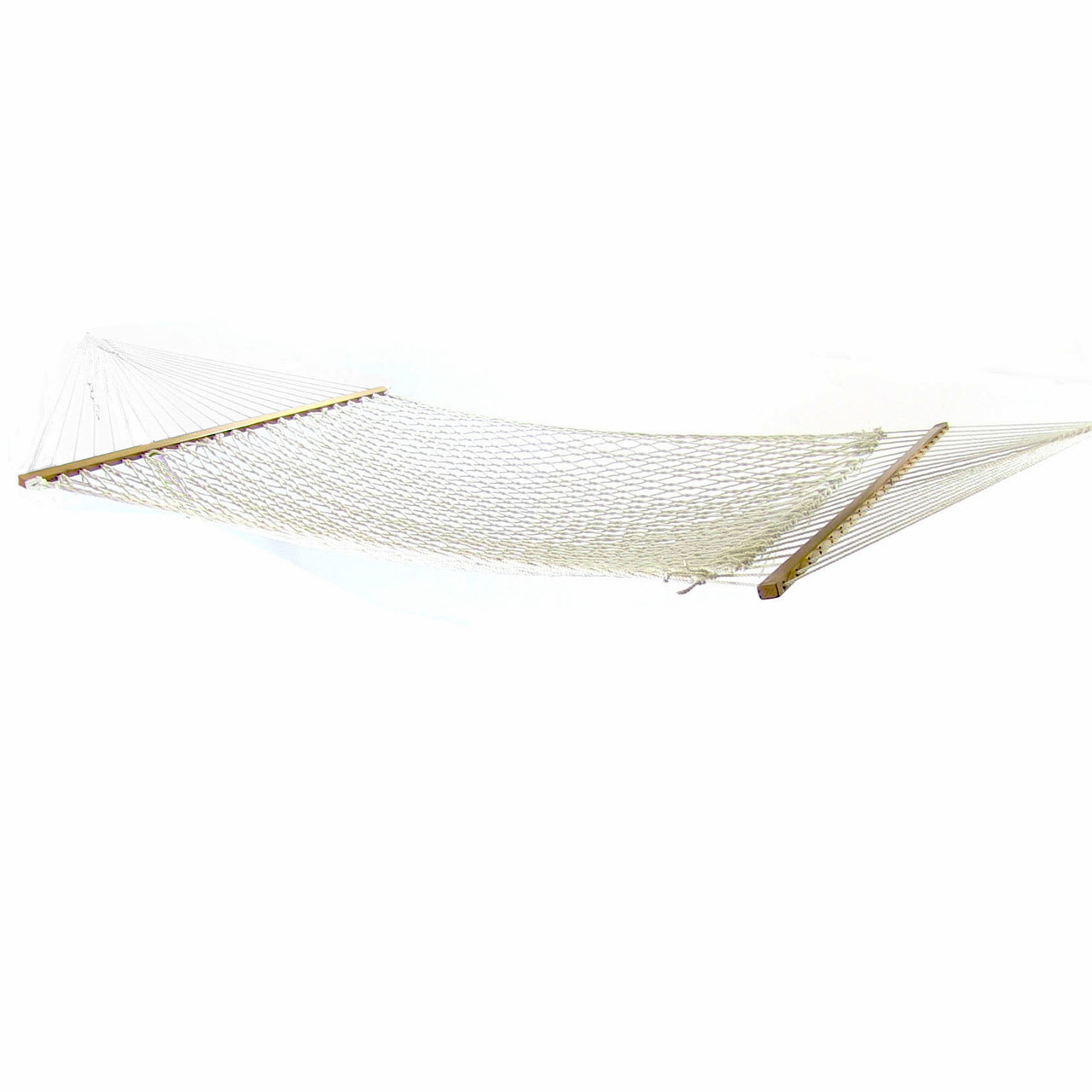 Sunnydaze 2 Person Polyester Rope Hammock With Wooden
