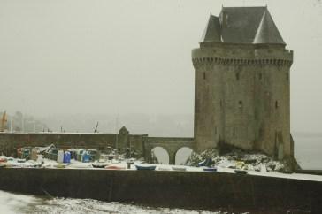 La tour Solidor de Saint-Malo sous la neige- Serge Ducout - Photographie