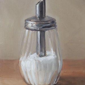 Suikerpot nr4, olieverf op paneel, 18 x 13 cm, Serge de Vries