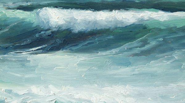 Detail Golf nr4, olieverf op paneel, 13 x 23 cm, Serge de Vries