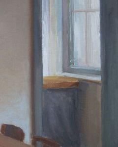 Detail 2 Gedekte tafel, olie op paneel, 19 x 15 cm, Serge de Vries