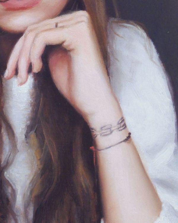 Detail3 Ema nr3, olieverf op paneel, 16 x 13 cm, Serge de Vries