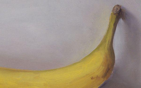 Detail Banaan, olieverf op paneel, 12,5 x 20 cm, Serge de vries