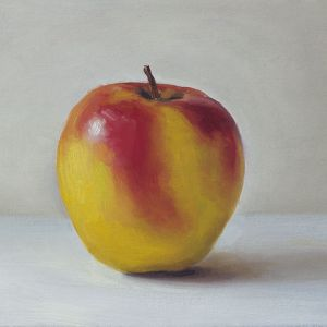 Appel, olieverf op paneel, 12,5 x 17 cm, Serge de Vries