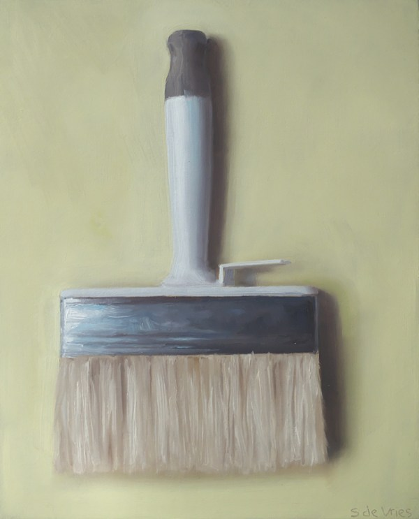 Blokkwast, olieverf op paneel, 18 x 15 cm, Serge de Vries