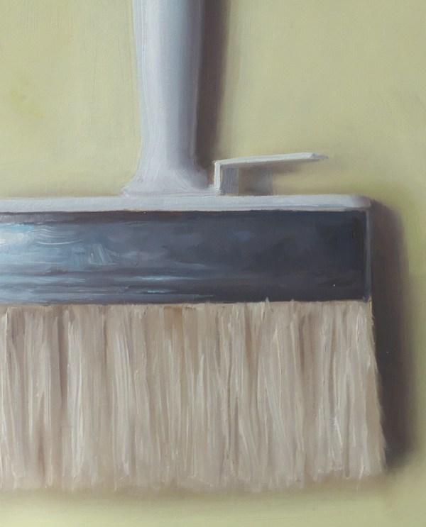 Detail Blokkwast, olieverf op paneel, 18 x 15 cm, Serge de Vries