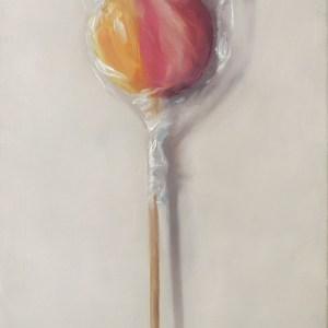 Lolly nr6, olieverf op paneel,18 x 13 cm, Serge de Vries