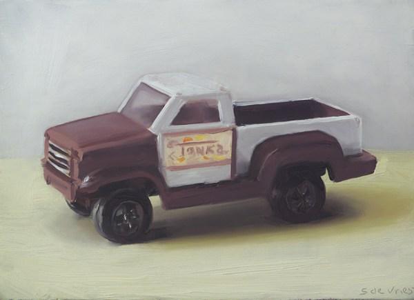 Tonka nr2, olieverf op paneel, 13 x 18 cm, Serge de Vries