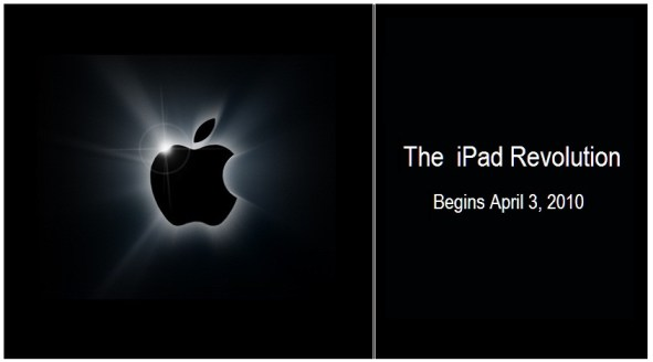 l'iPad Revolution inizia il 3 aprile 2010