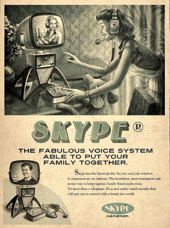 Vintage Skype ADV by Moma