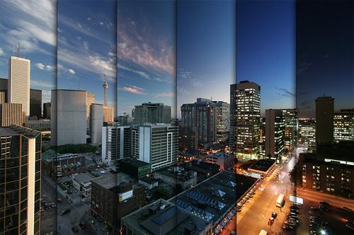 un esempio di frame acquisiti in time-lapse