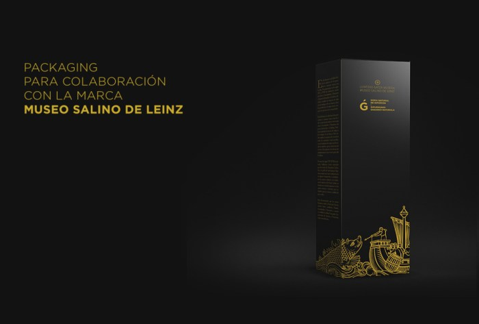 Packaging colaboracion con Museo Salino de Leinz Sidra Natural G