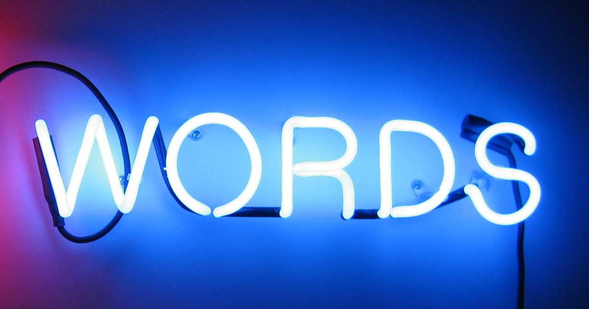 Words al neon