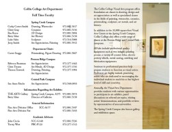 Collin College Fine Art Department Brochure