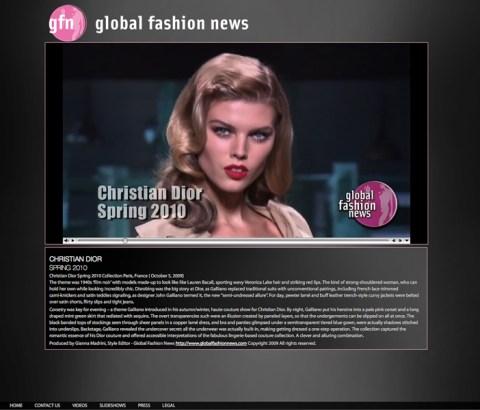 Global Fashion News Video Page
