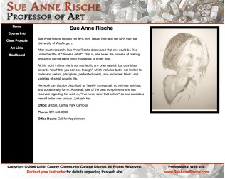 Sue Anne Rische Collin Website