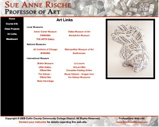 Sue Anne Rische Collin Website