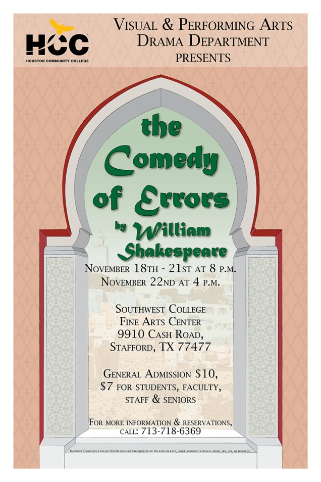 Comedy of Errors Poster