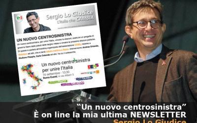 Newsletter Sergio Lo Giudice – Un nuovo centrosinistra