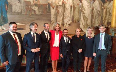 Ricevuti in Senato Andrea e Francesco, la coppia offesa ad Ascoli dopo l'unione civile
