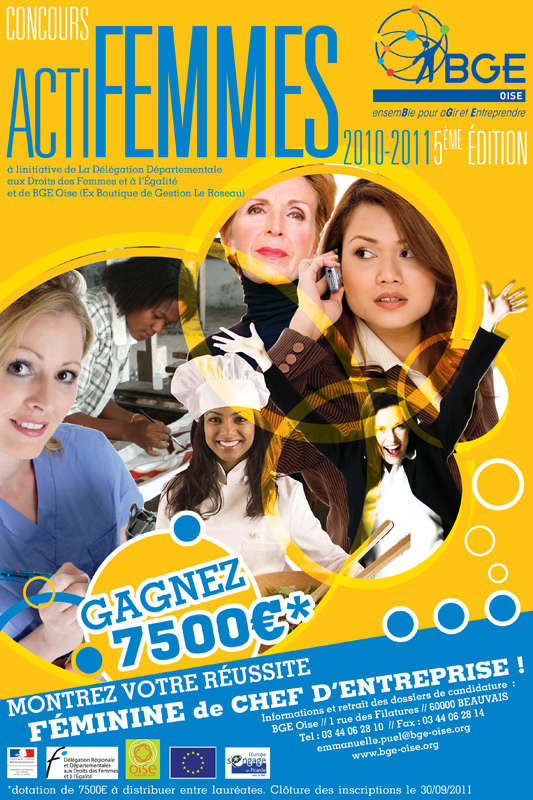 BGE : Affiche Concours Actifemmes 2010 -2011