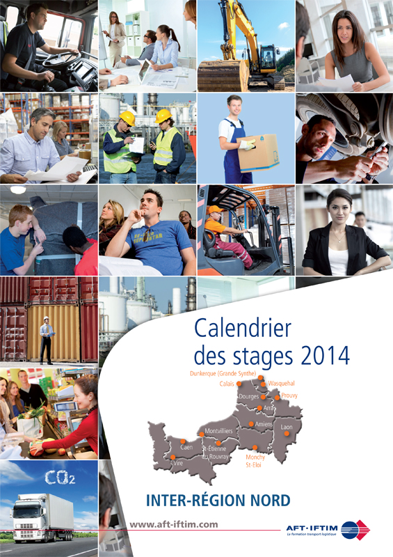 AFTIM : Calendrier des Stages Nord 2014 - Couverture