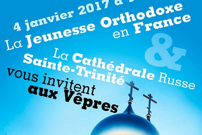Affiche des Vêpres de La Jeunesse Orthodoxe en France