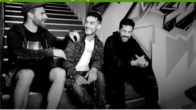 Rooble (Les Freres Coulures), Charl (Club Mickey) et Kendo (Peinture Fraiche), 3 des membres du collectif originel Transfert à Bordeaux
