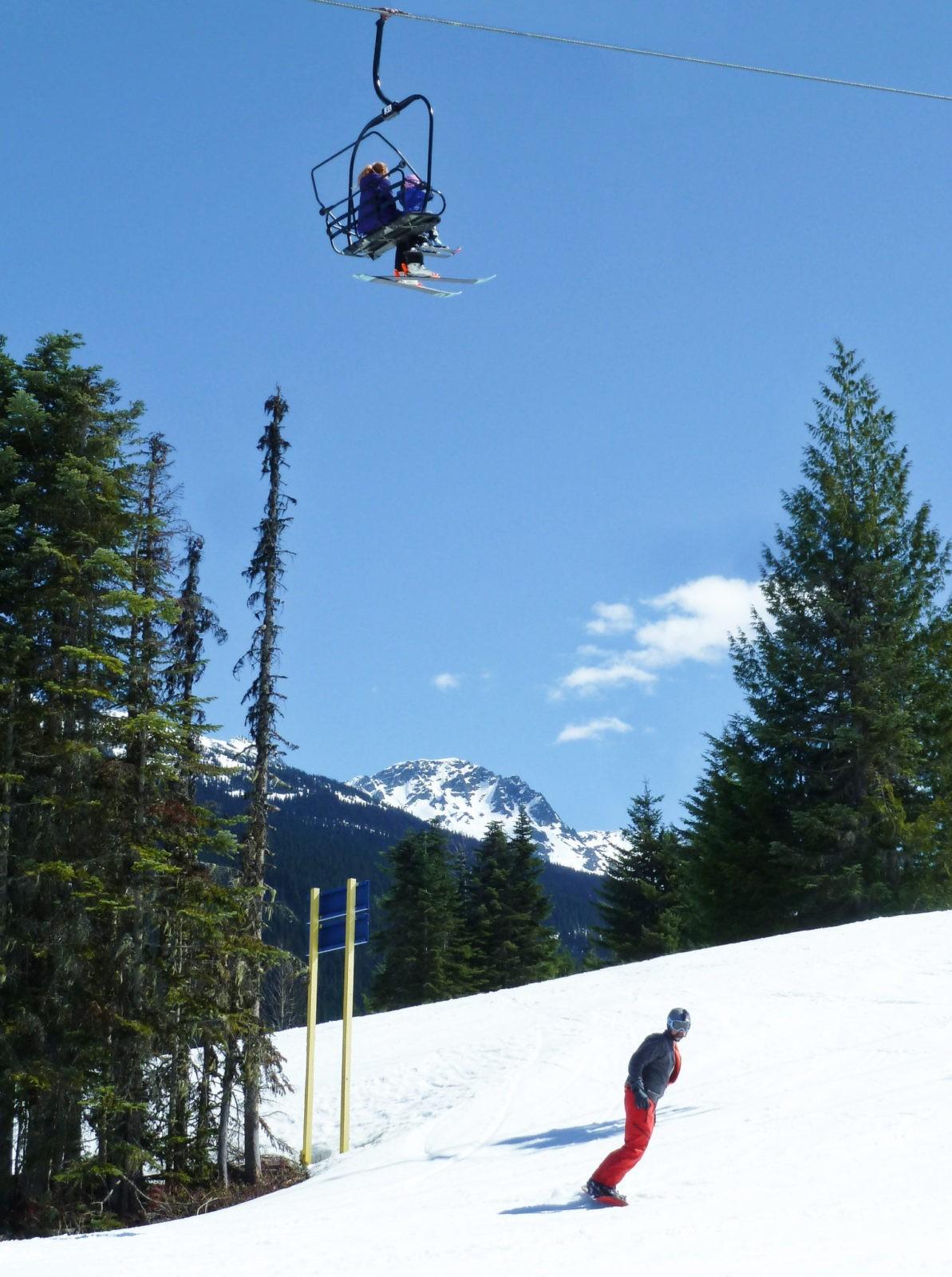 snowboard descente whistler