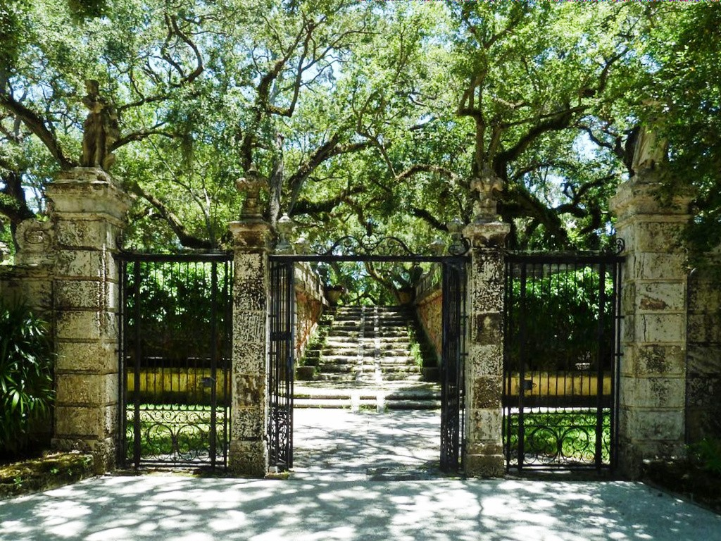 Une des portes d'entrée de la Villa Vizcaya