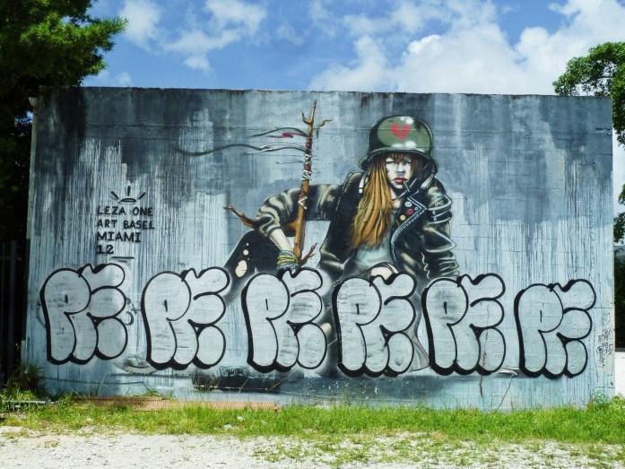soldat femme wynwood street art miami