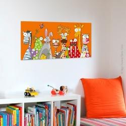 tableau les animaux 38x78 cm