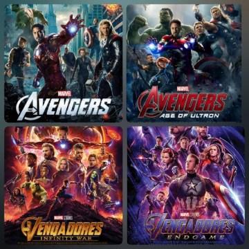 Los vengadores (Películas 1-4) HD 720p Latino (Mega)
