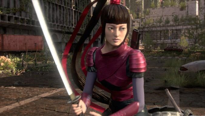 HEROES REBORN -- Miko as Katana Girl (Photo by: NBC)