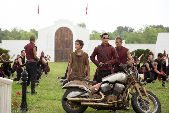 Aramis Knight as M.K. and Daniel Wu as Sunny- Into the Badlands _ Season 1, Episode 3 - Photo Credit: Patti Perret/AMC