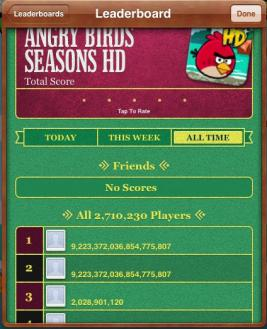 Back when only two people knew the hack for Angry Birds Seasons