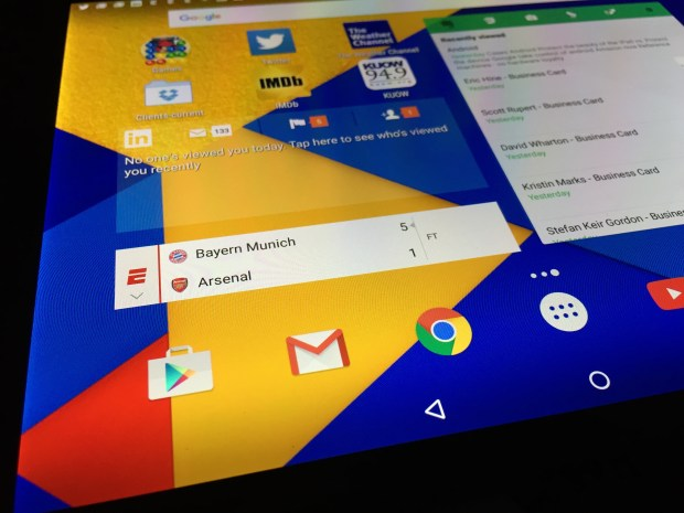 A Nexus 9 is running Android 6, Marshmallow