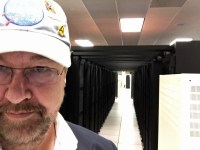 Dan in the Pleiades Supercomputing Center. #NASASocial