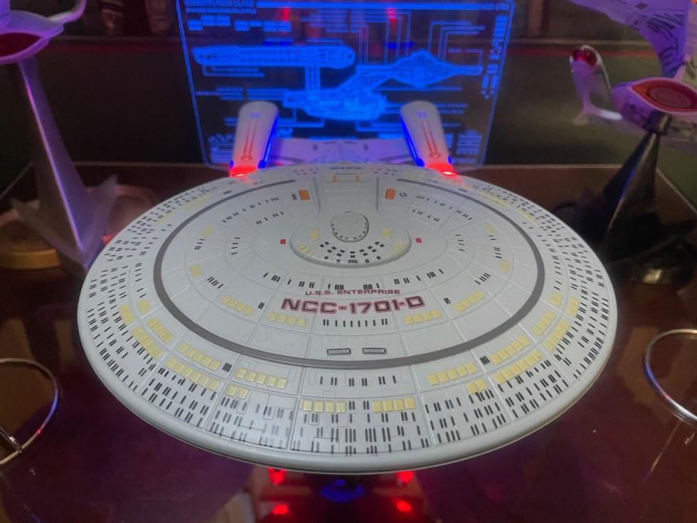 Star Trek Enterprise-D Bluetooth Speaker top