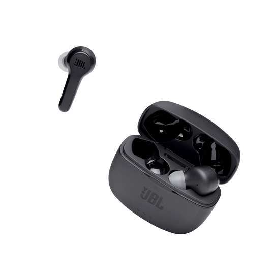 JBL Tune 215TWS case with one earbud out