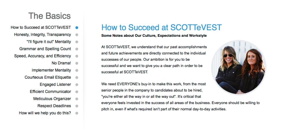 SCOTTeVEST Corp Culture