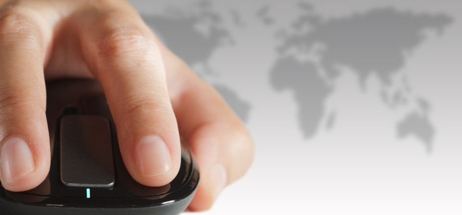 Higher Education Web hand with mouse