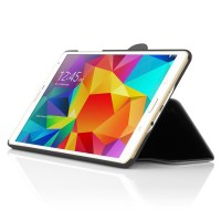 A Samsung Galaxy Tab S 8.4 sporting a Lexington case from Incipio