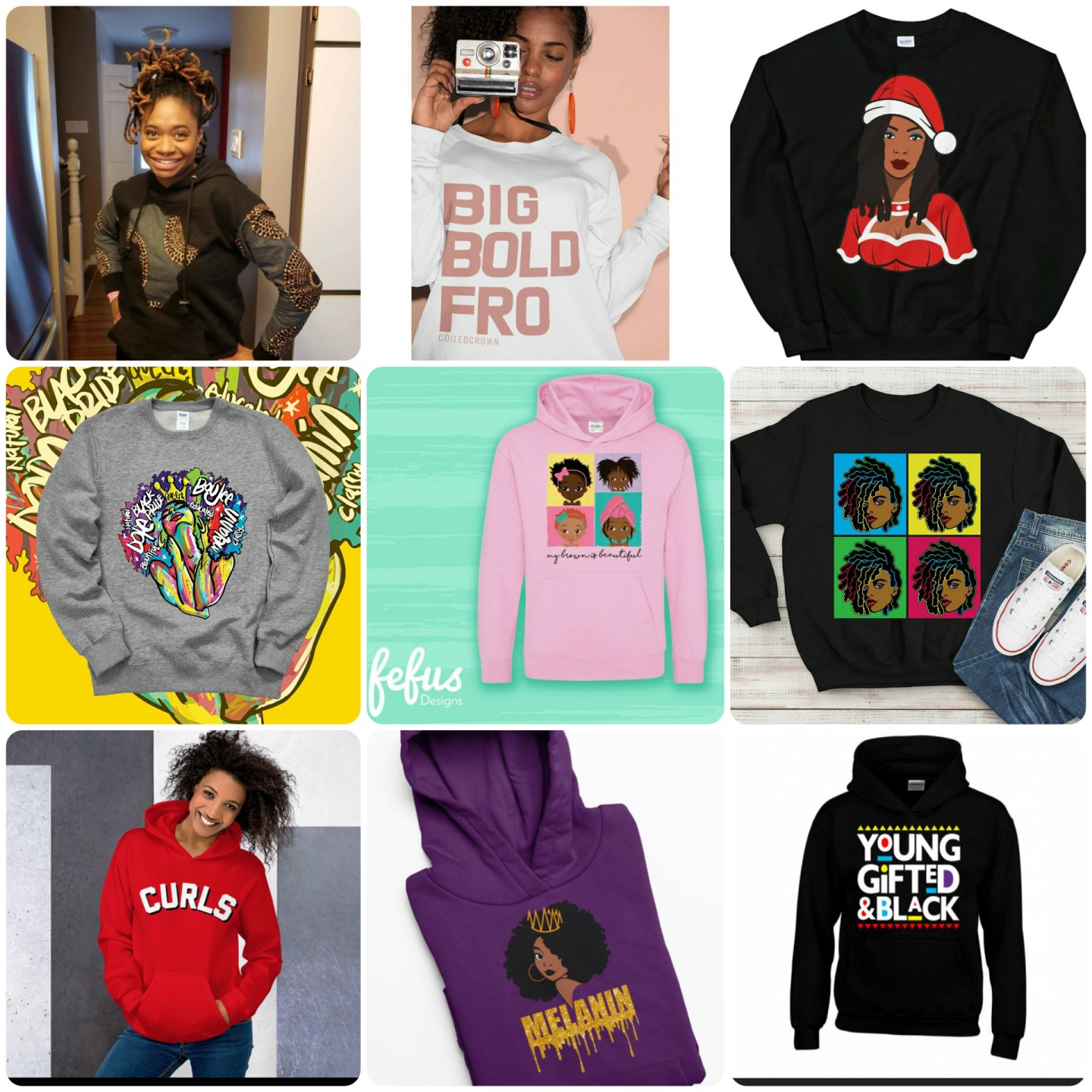 Click here to buy Colorful Locs Sweatshirt for someone on your holiday list.