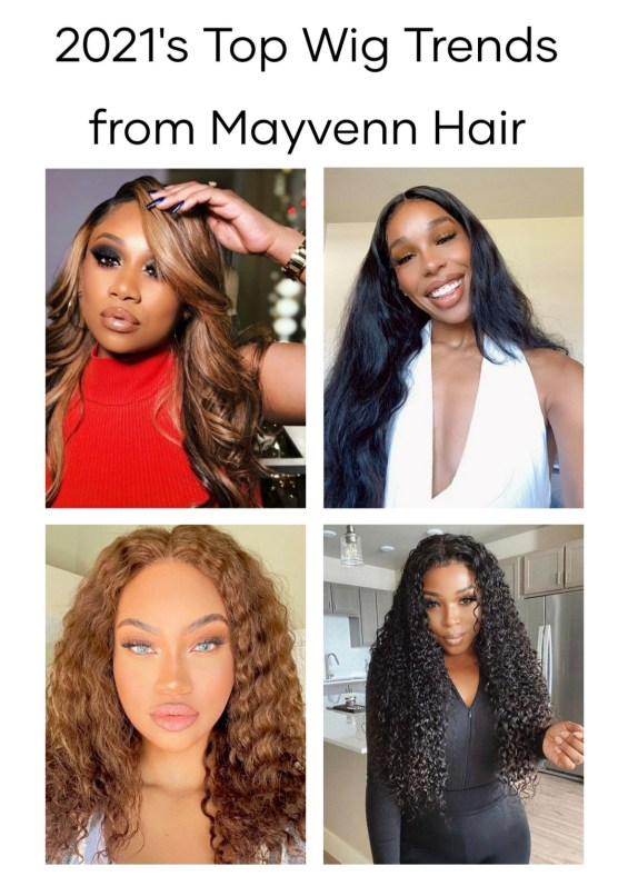 Mayvenn Hair sells 100% virgin hair extensions in a wide variety of textures and colors. Check out the top trends in wigs.