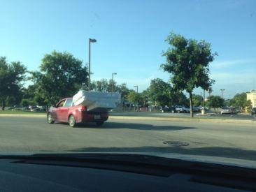 Car hauling mattresses