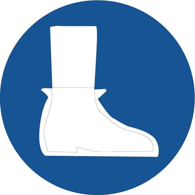 Port de sur-chaussures Image