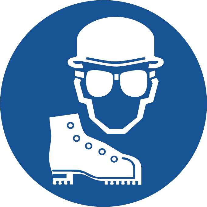 Port casque - lunettes - chaussures Image