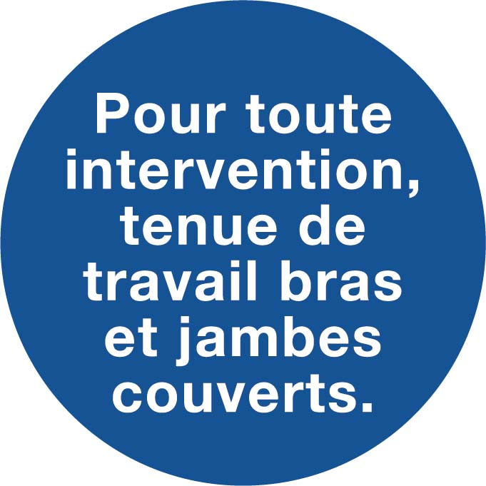 Intervention tenue bras et jambes couverts Image