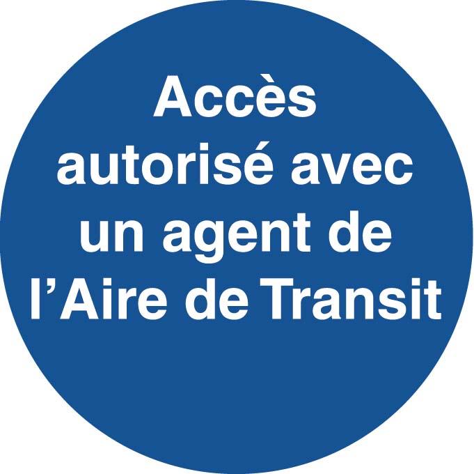 Accès autorisé agent - aire de transit Image